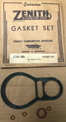 NOS ZENITH FÖRGASAR REPSATS C181-299 FOR MODEL 94-1/2 I FUEL CARB ENGINE #2